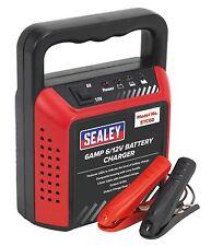 Sealey Compact Battery Charger 6/12V 6Amp 230V Car Van Motorbike Mower
