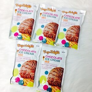 New-Rival-FROZEN-DELIGHTS-Chocolate-Ice-Cream-Mix-8-oz-5-Packs
