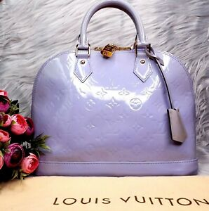Authenticity-Certified-Louis-Vuitton-Lavender-Alma-PM-Monogram-Vernis-Lilac-Bag