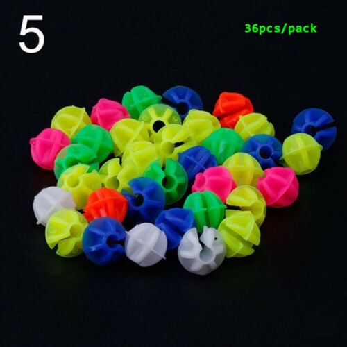 36Pcs Kids Bicycle Safety Multi-color Bike Wheel Clip Decoration Spoke Beads-.
