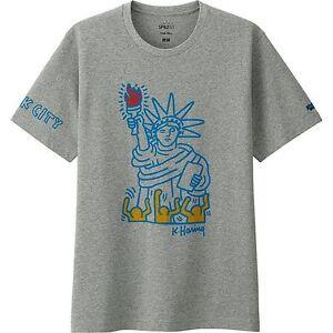 b8ce3682 KEITH HARING x UNIQLO 'Statue of Liberty NYC' SPRZ NY Art T-Shirt S ...