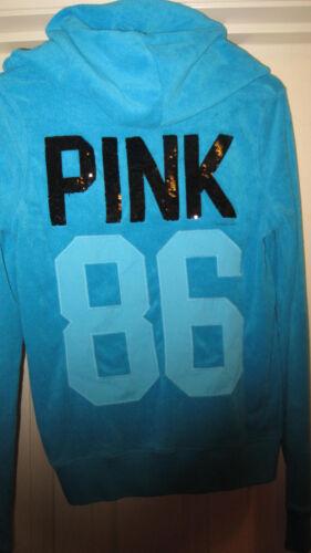 Secret bottoncino piccolo venduto Felpa cappuccio con blu Victoria con 86 Pink Felpa Cq6tU6