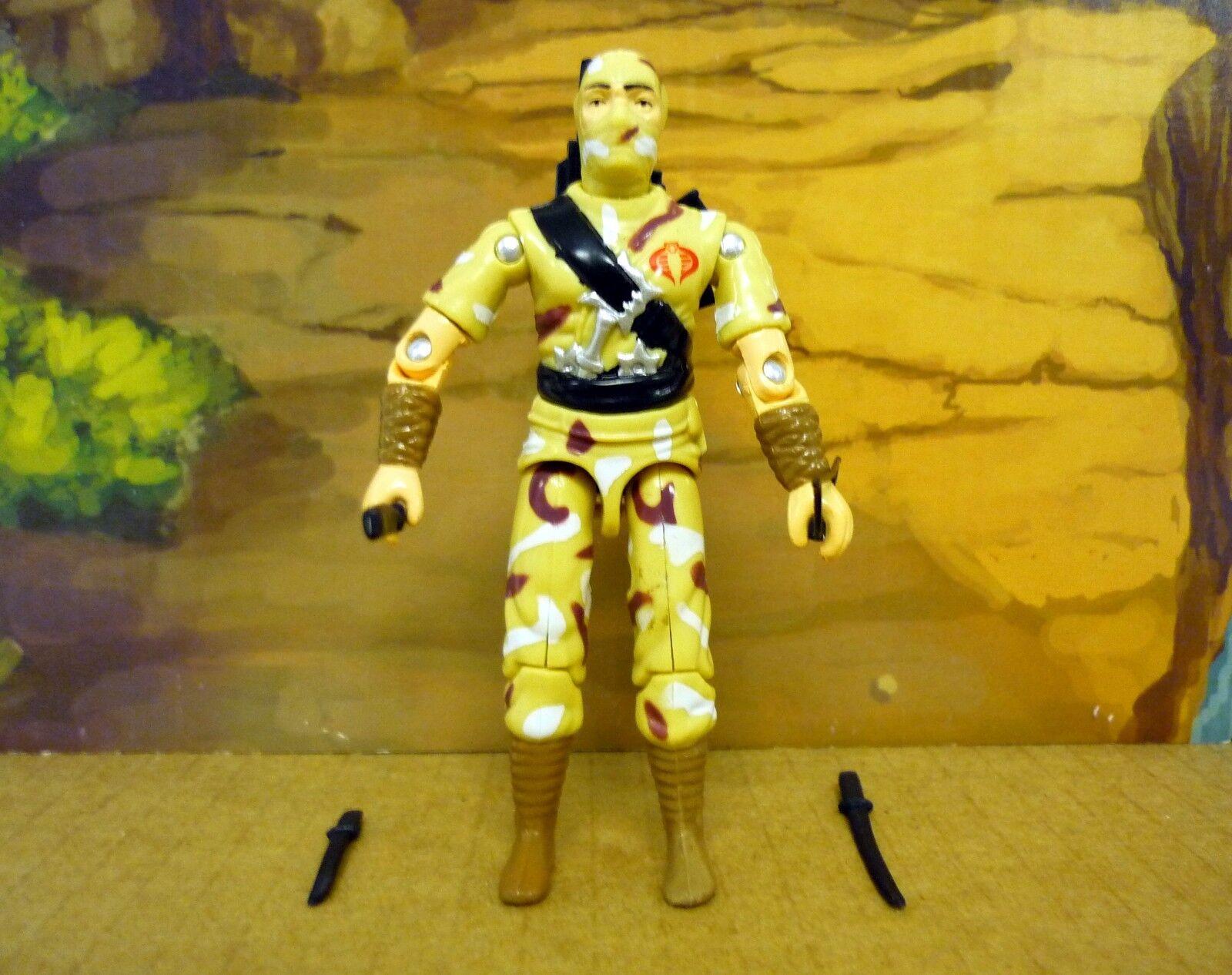 Gi Joe Wüsten Tarnmuster Sturm Shadow Custom Retro 1984 Stil Actionfigur    Konzentrieren Sie sich auf das Babyleben