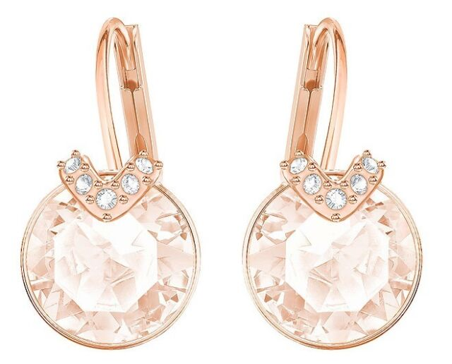 BELLA V CRYSTAL PIERCED EARRINGS PINK ROSE GOLD 2017 SWAROVSKI JEWELRY  5299318 b637bf4a2