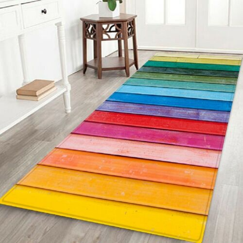 Details about  /2x Kitchen Rugs Non-Slip Rubber Backing In// Outdoor Entry Floor Carpet Door Mat
