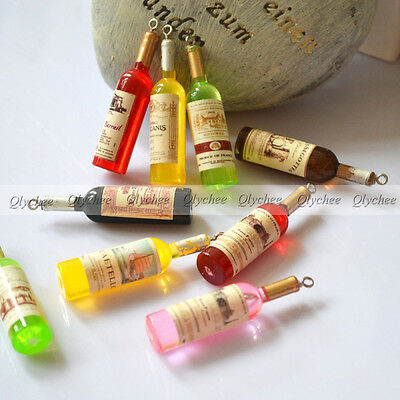 DIY New Cabochons Crafts Flower Wine Bottle Resin Scrapbooking