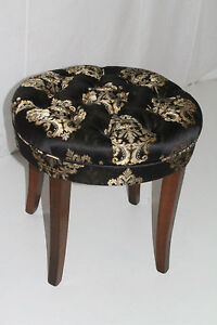Fine English Regency Style Maple Circular Bench With Tufted Seat Gamerscity Chair Design For Home Gamerscityorg