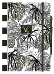 A5-Tropical-Foglia-Nota-Libro-con-Penna-E-Supporto-Foderato-Carta-Pastiglia-Pnpf
