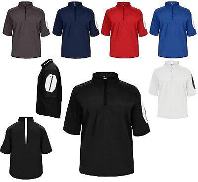 Constructive Men's Lightweight Wind,water Resistant Short Sleeve Pullover Xs-4xl 1/4 Zip
