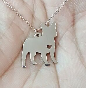 Fine Jewelry Personalized French Bulldog Sterling Silver Pendant Necklace tMJXN