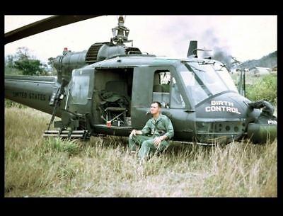 Vietnam War Huey BIRTH CONTROL Gunship Pilot PHOTO US Army Helicopter BELL  UH-1C | eBay