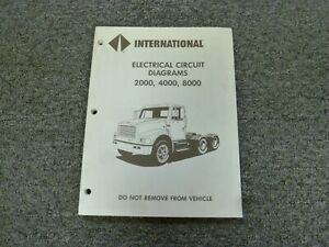 1994 international 2554 2574 2654 2674 truck electrical wiring diagrams  manual   ebay  ebay