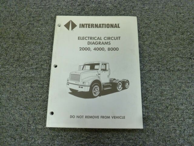 1994 International 2554 2574 2654 2674 Truck Electrical Wiring Diagrams Manual