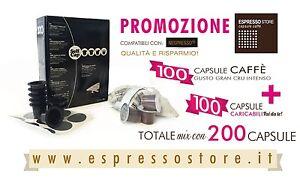 400 CAPSULE NESPRESSO 200 INTENSO GRAN CRU + 200 CARICABILI FAI DA TE