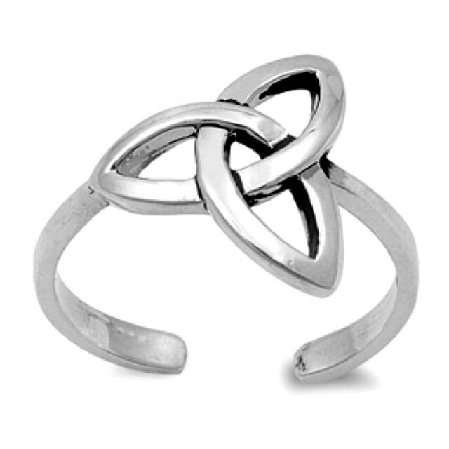 Adjustable Celtic Knot Toe Ring Sterling Silver 925 Best Deal Jewelry Gift