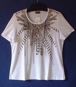Rundhalsausschnitt Weiß By 46 Shirt Baumwolle Gerry modal Weber Gr Samoon Damen aqHXxwIq