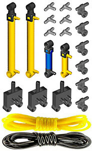 cylinder,mini,pump,tube,hose,switch,valve,piston Lego Pneumatic AIR TANK KIT 4