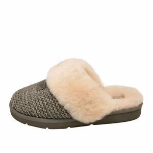 3cbc25231f0 Details about UGG COZY KNIT Charcoal Women's Slippers 1095116