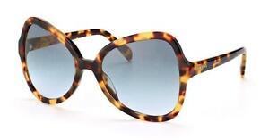 NEW-Authentic-Prada-Sunglasses-SPR-05SS-7S0-4R2-Light-Havana-Blue-Gradient