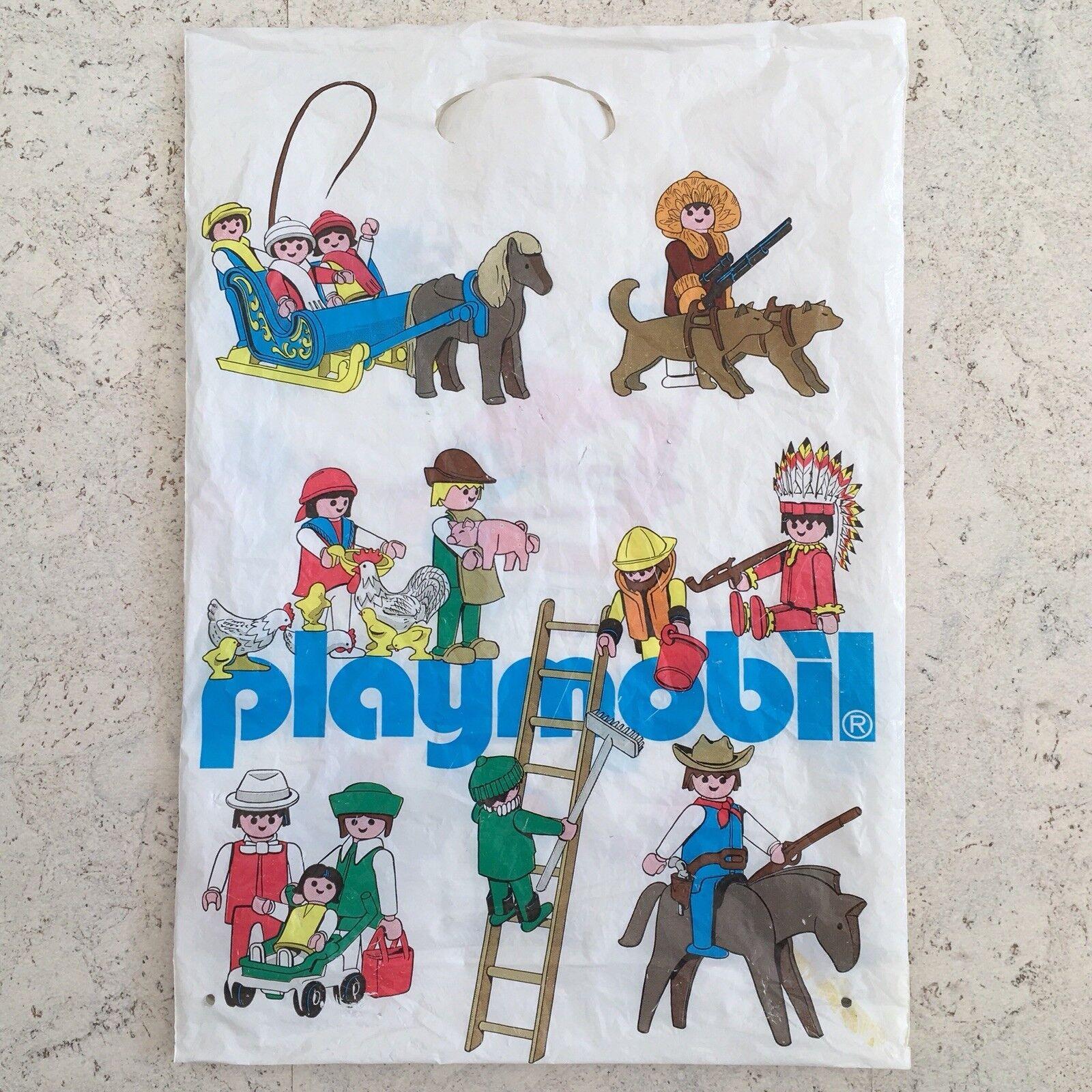 Vintage Playmobil plastique Shopping sac porte - 1980 S   promotionnel Merchandise