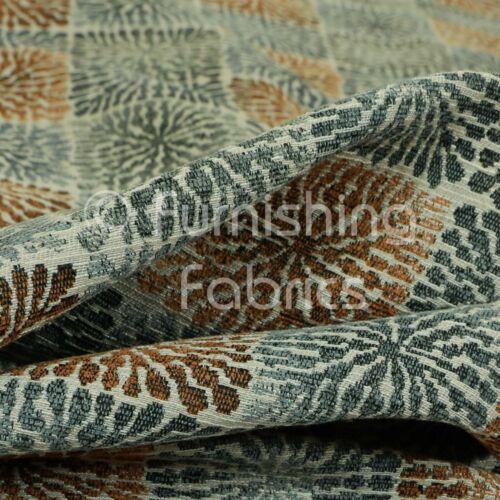 Nouveau bleu orange Symétrie Géométrique Motif Matériel ameublement sellerie tissu