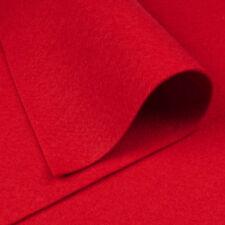 Woolfelt Christmas Red ~ 22cm x 90cm / felt wool fabric heart decorations cherry