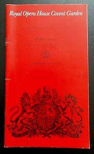 Il Trovatore programme Royal Opera House Covent Garden 1 Jan 1982 John Tomlinson