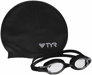 c190980f0480 Details about TYR YOUTH SWIM CAP & GOGGLES PACK