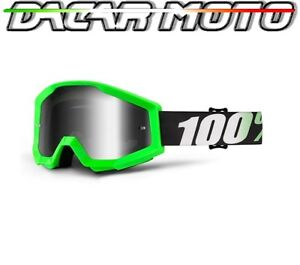 venta caliente sitio web profesional la mejor calidad para Detalles de Panel Gafas 100% Strata Off Road Moto Enduro Cross Espejo Verde  Fluorescente