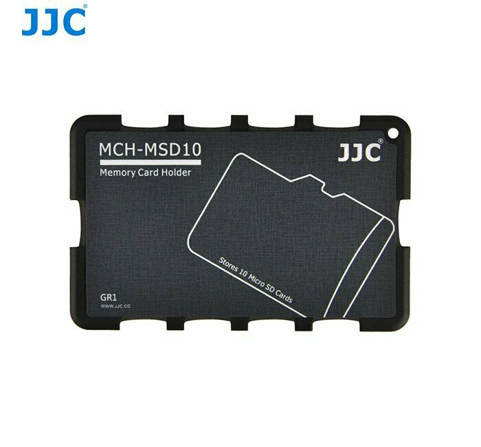 JJC MCH-MSD10 Memory Card Holder Hard Case Credit Card Size for 10 x Micro SD