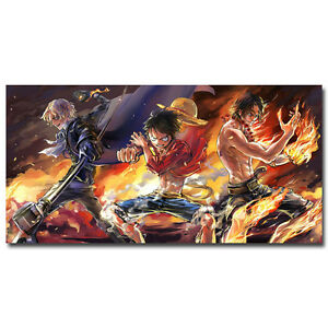 One-Piece-Strong-World-Anime-Silk-Poster-12x24-24x48-inch-Luffy-Zoro-ACE