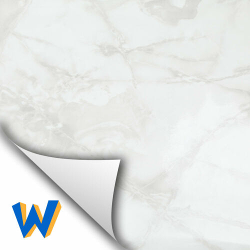 Ivory Gray Marble Contact Wallpaper Paper Glossy Cabinet Countertop 3 Sheets