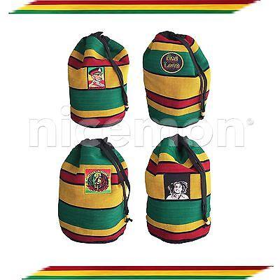 "Reggae Vibe Rasta Surfer Hawaii Backpack Sack Tote Bag Hippie Jamaica Marley 17/"""