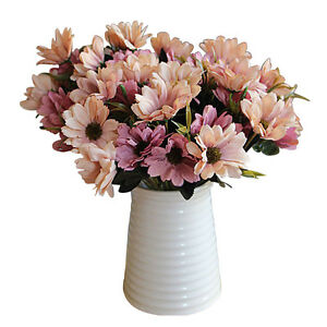 AH198-A-Bunch-of-Man-Mad-Bridal-Daisy-Flowers-Fake-Silk-Bouquet-Home-Party-Decor