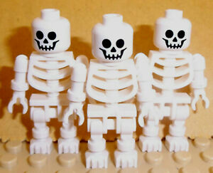 Lego 5 New White Skeleton Legs Pirate Halloween Minifigure Parts