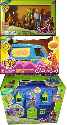 Scooby Doo Mystery Mansion House Machine VAN Mystery Solving Crew Figures Shaggy