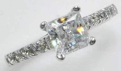 1 Karat Prinzessin Ring Pflastern Ehering Top Cz Imitation Moissanit Simulans HöChste Bequemlichkeit