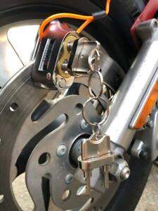 Anti-theft-Dual-Key-Motorbike-Motorcycle-Disc-Brake-Loc-Helmet-Lock-Cable