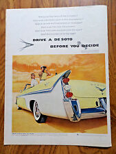 1956 De Soto Fireflite Convertible Ad Want a Car that takes off Like a Torpedo?