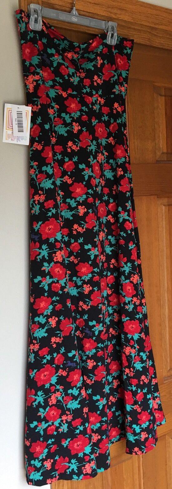 Lularoe Floral Maxi Skirt Dress M NWT Actual Hidden Unicorns In Print- HTF