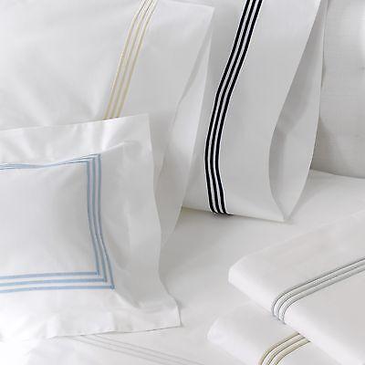 Möbel & Wohnen Bettwäschegarnituren Matouk Bel Tempo King Blatt-satz Weiß