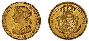 100-GOLD-REALES-ORO-ISABELLA-II-ISABEL-II-MADRID-1858-AU-SC