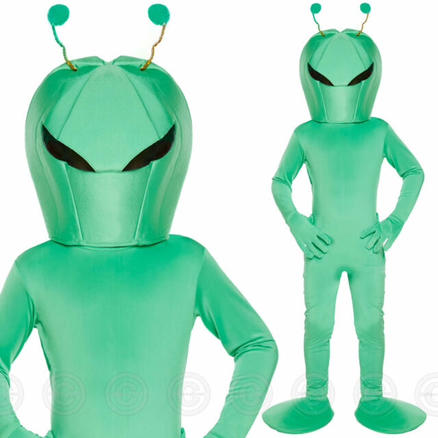 Fancy Dress Child Alien Large 10 12 Yrs U00163 Green by Henbrandt eBay