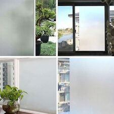 200 x 60CM Bianco Privacy Vetro Smerigliato Film Frost appiccicoso posteriore in plastica vinile UK