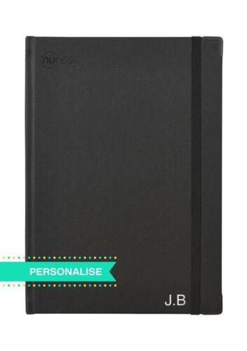 Black Personalised B5 Casebound Journal Nu Elite Prestige A4