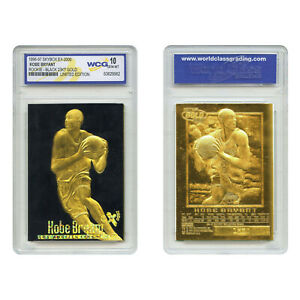 RARE-Graded-Gem-Mint-10-KOBE-BRYANT-1996-Skybox-23K-Black-Gold-ROOKIE-Card