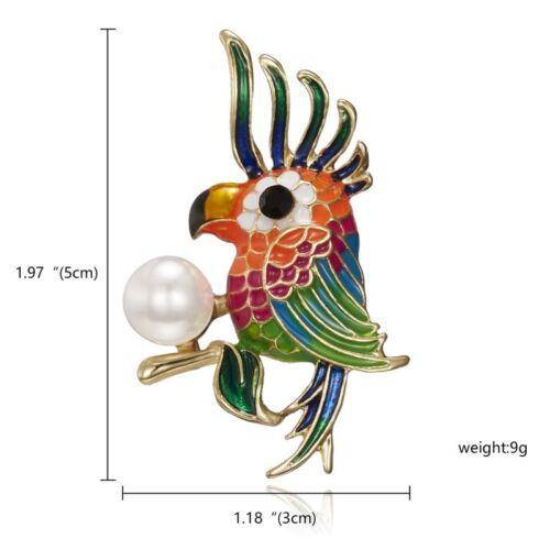 Fashion Women Pearl Crystal Animal Bird Owl Brooch Pin Jewelry Gift