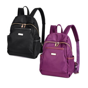 8ee4ed585d Image is loading New-Women-Water-Resistant-Nylon-Backpack-Rucksack-Purse-