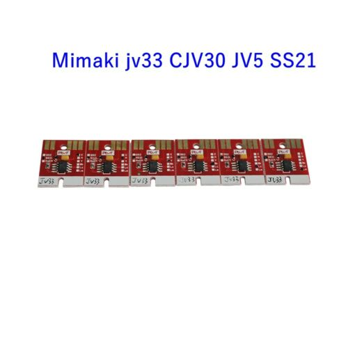 Permanent Chips für Mimaki jv33 CJV30 JV5 DX5 SS21 Kartusche 6 Farben Cmyklclm