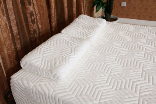 "10/"" inch Two Layers Full Size COOL Firm Memory Foam Mattress w//2 Pillows White"